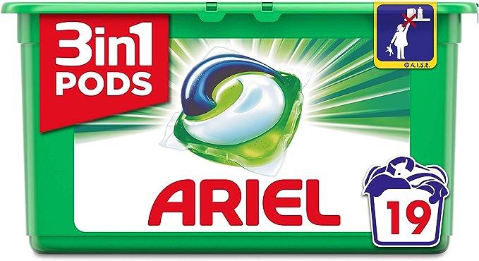 TALLA 19 Capsules. Ariel-Cápsulas de jabón 3 en 1 - Regular