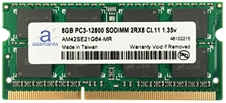 Adamanta 8gb 1x8gb Laptop Memory Upgrade Ddr3 Ddr3l 1600mhz Pc3l
