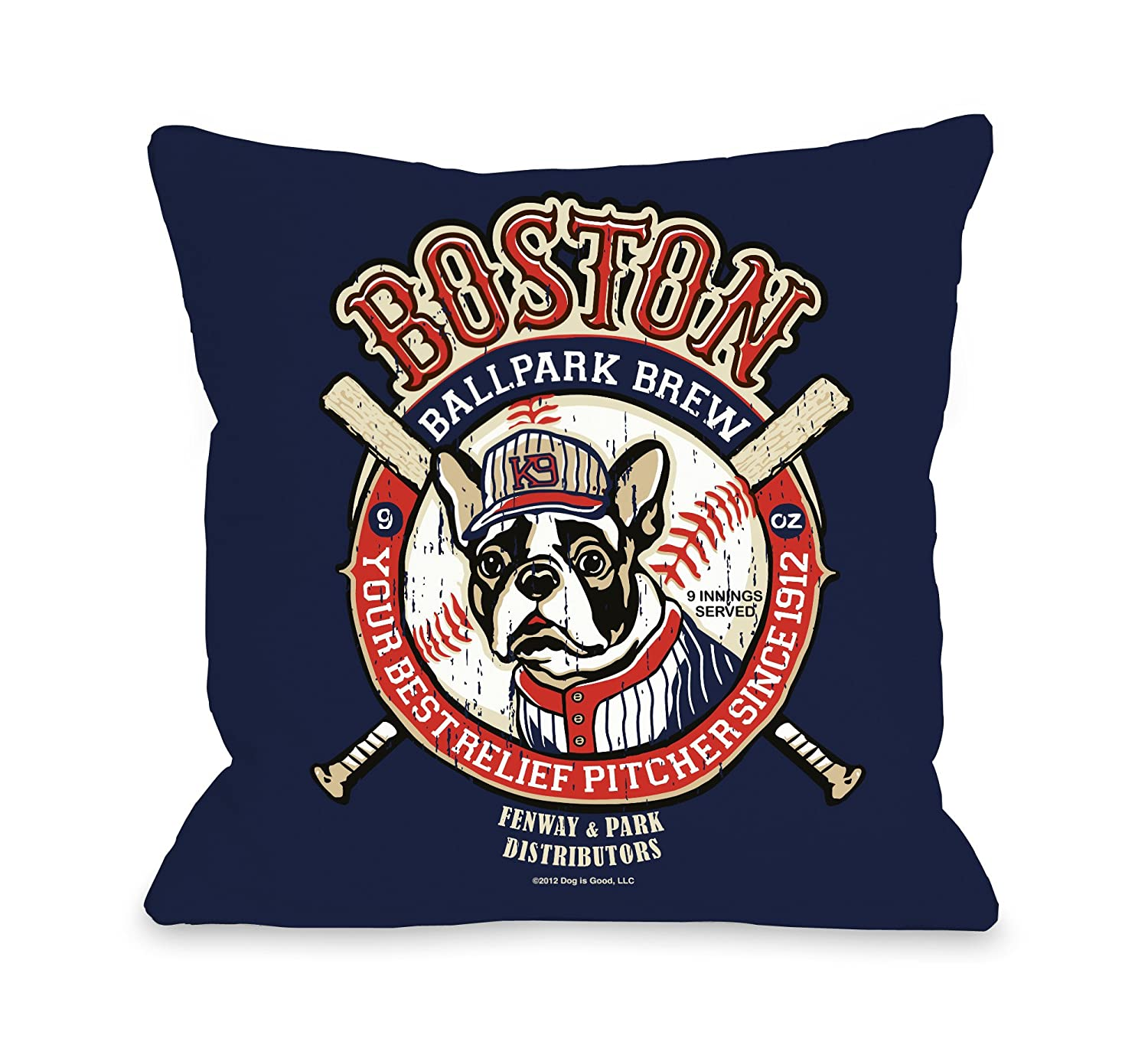 16 by 16Inch Bentin Pet Decor Boston Brew Pillow, 16 by 16Inch