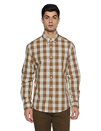 5ff34444 TOMMY HILFIGER Men's Casual Shirts: Amazon.in: Clothing & Accessories