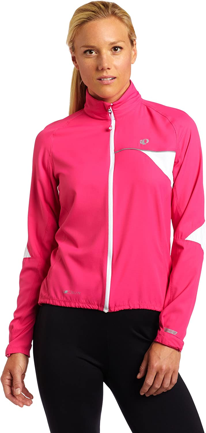 PEARL IZUMI Womens Elite Barrier Jacket,Pink Punch,X-Large