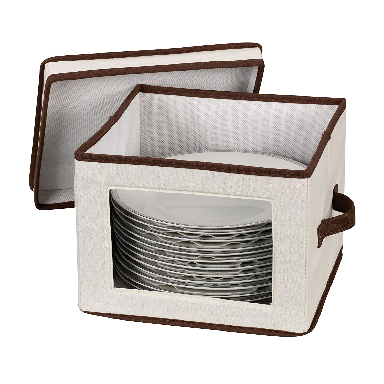 Amazoncom Household Essentials 536 Dinnerware Storage Box with Lid