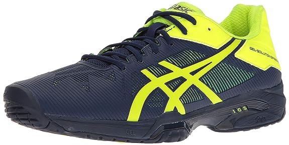 ASICS Men's Gel-Solution Speed 3 Tennis Shoe Indigo Blue/Safety Yellow 8.5 M US