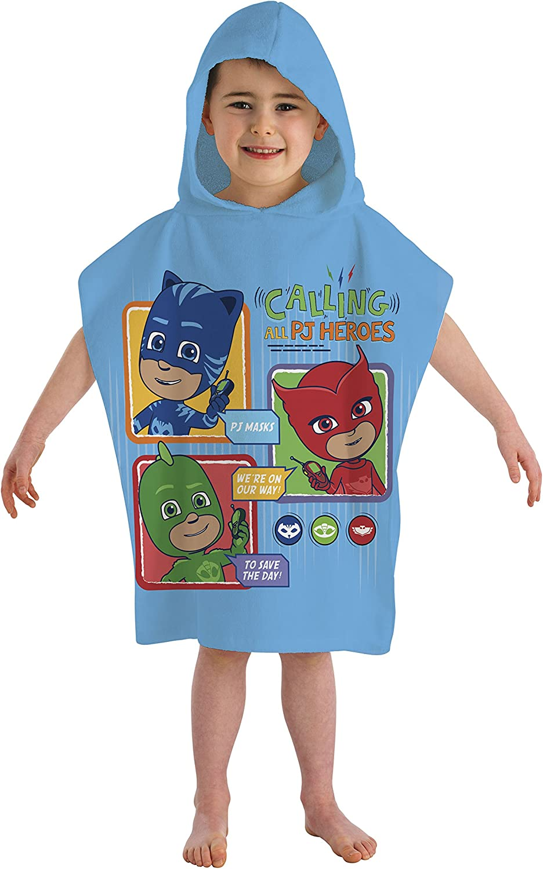 PJ Masks Calling All Heroes Hooded Poncho Towel