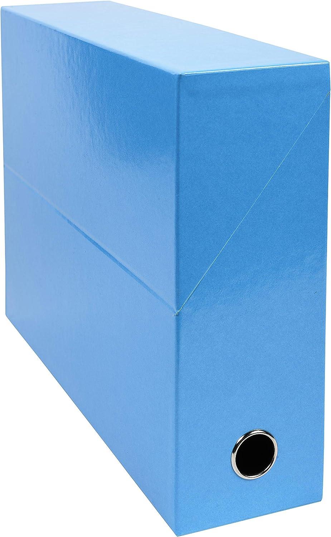 Exacompta 89927E - Caja de transferencia, color turquesa: Amazon.es: Oficina y papelería
