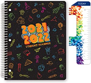 Dated Elementary Student Planner for Academic Year 2021-2022 (Matrix Style - 8.5