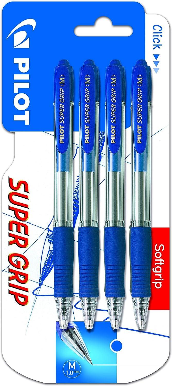 Pilot Supergrip - Blíster de bolígrafos, 4 unidades
