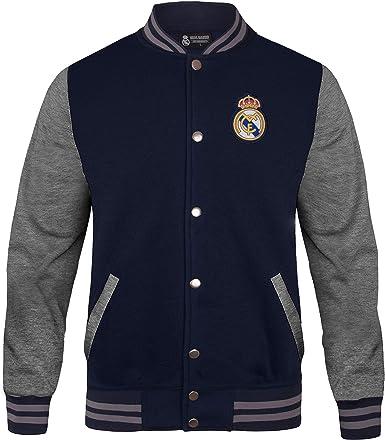 Real Madrid - Chaqueta Deportiva Oficial para Hombre - Estilo béisbol Americano: Amazon.es: Ropa y accesorios