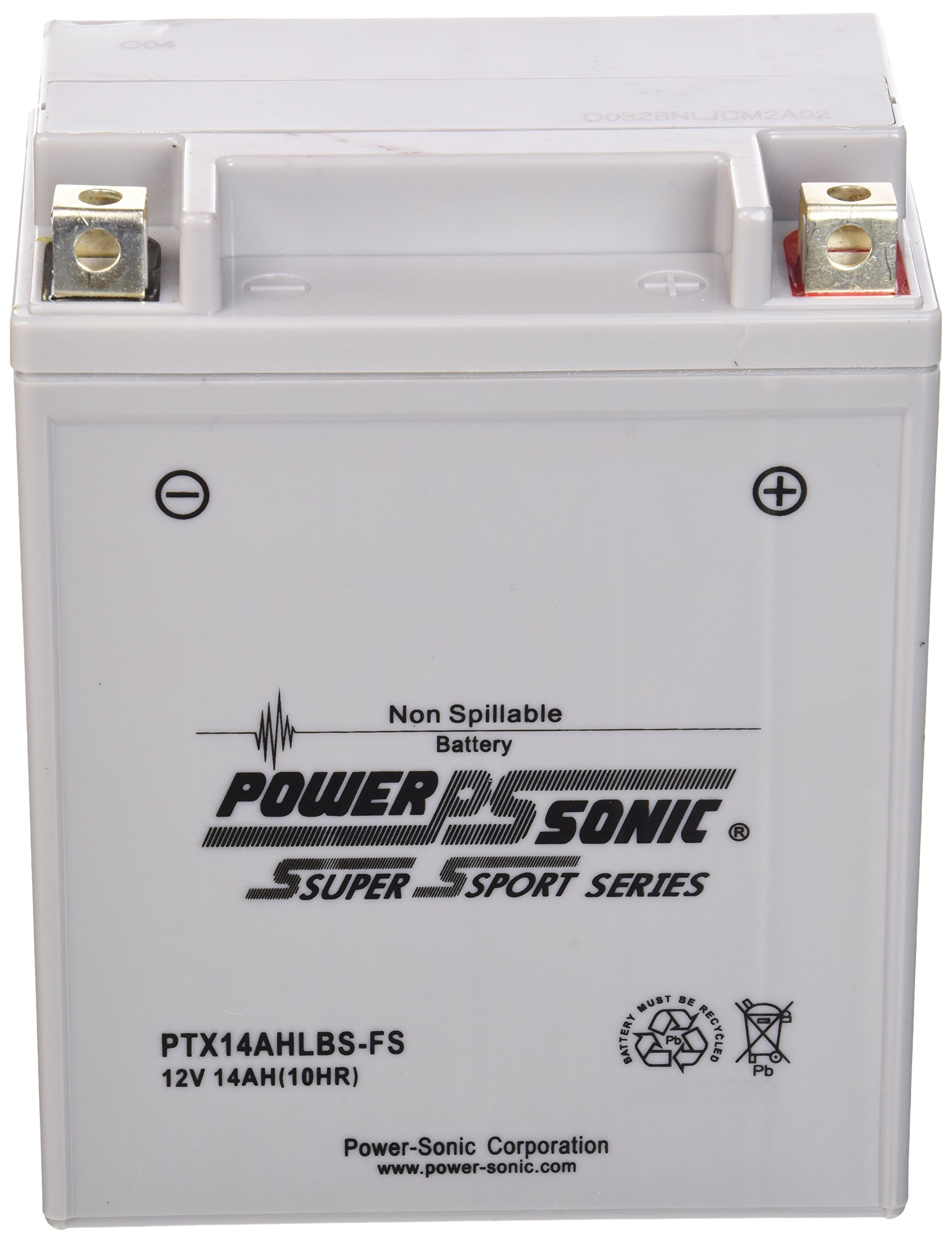 Power-Sonic (PTX14AHLBS-FS) Sealed Maintenance Free Powersport Battery