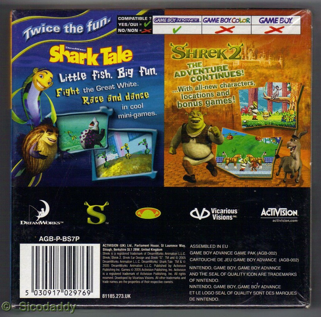 Shrek 2 and Shark Tale: Amazon.es: Videojuegos