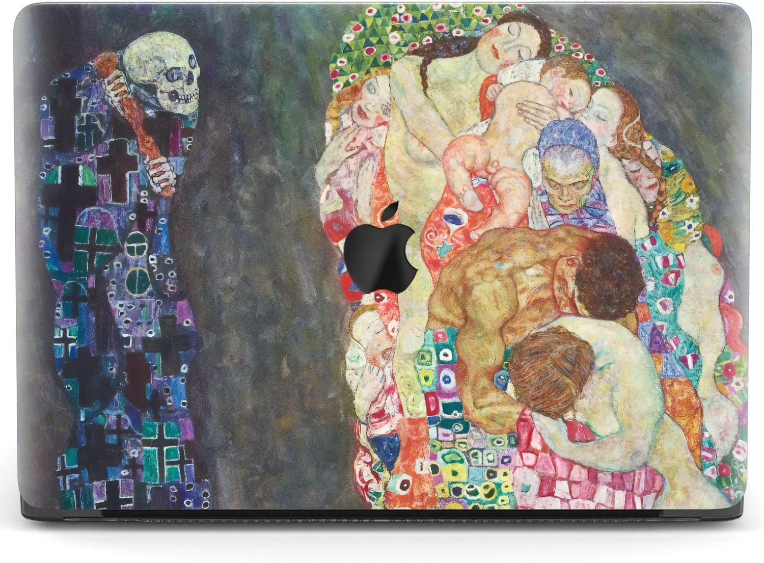 Mertak Hard Case for Apple MacBook Pro 16 Air 13 inch Mac 15 Retina 12 11 2020 2019 2018 2017 Touch Bar Death and Life Protective Plastic Gustav Klimt Cover Clear Print Skeleton Laptop Painting