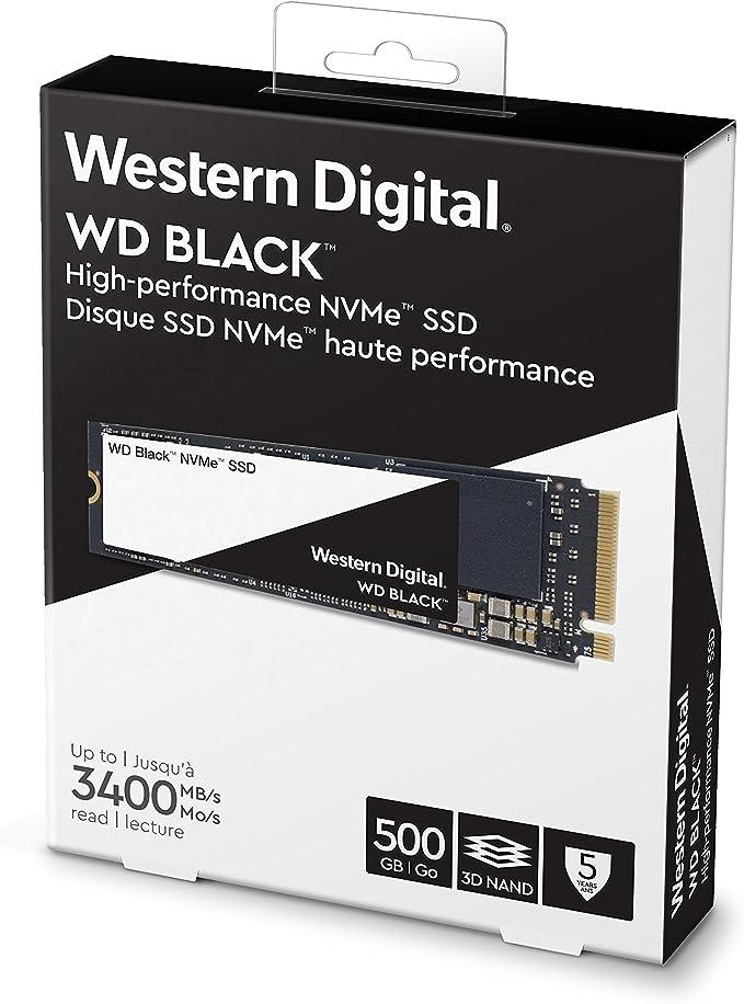 Western Digital WD Black NVMe - Disco duro sólido SSD 500GB, M.2 ...