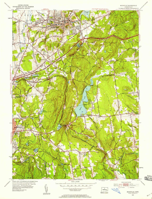 Topographic Map Of Colombia.Amazon Com Yellowmaps Rockville Ct Topo Map 1 24000 Scale 7 5 X