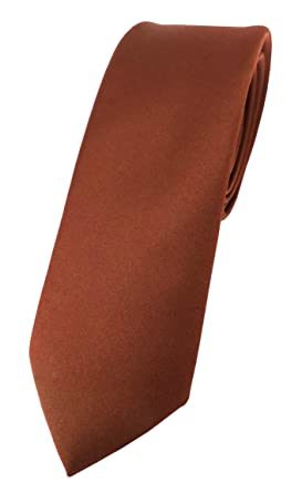TigerTie - corbata estrecha - marrón rojo rojo-marrón monocromo ...