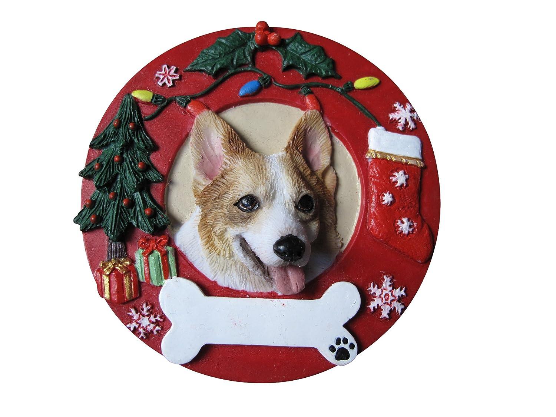 E&S Pets Welsh Corgi Personalized Christmas Ornament