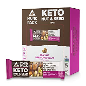 Munk Pack Sea Salt Dark Chocolate Almond Keto Nut & Seed Bars