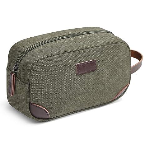 Amazon.com   Men s Travel Toiletry Organizer Bag Canvas Shaving Dopp ... 372ffe1585