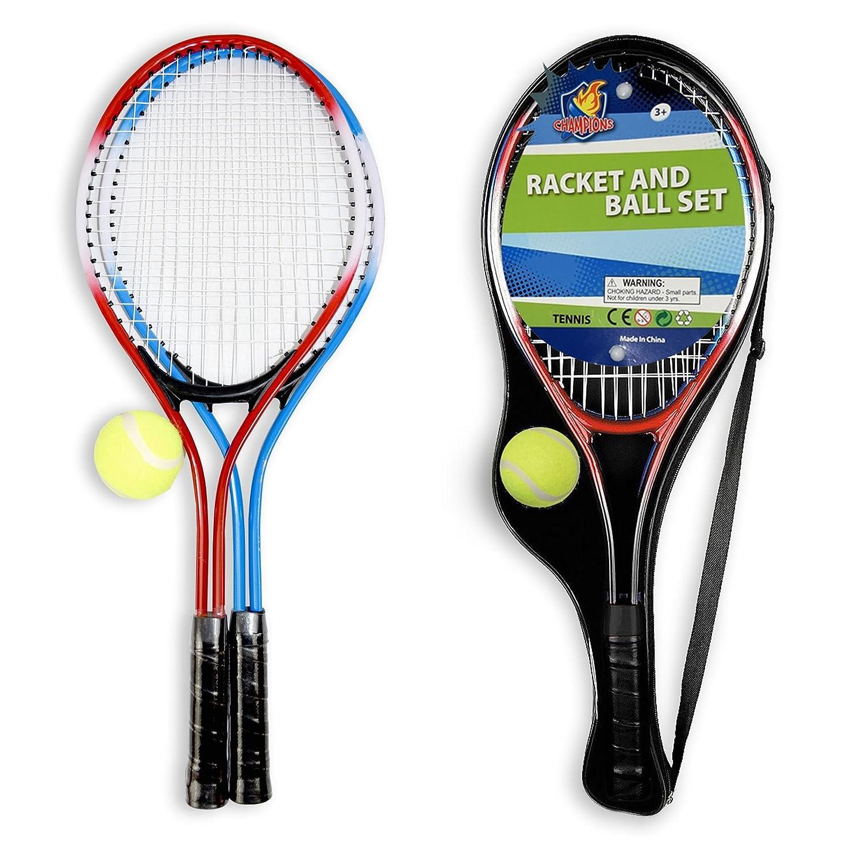 Vinsani Enfants Junior 2Joueurs de Tennis de Raquette de Raquette de Jardin Boule–Comprend Housse de Transport avec 2Raquettes et 1Balle