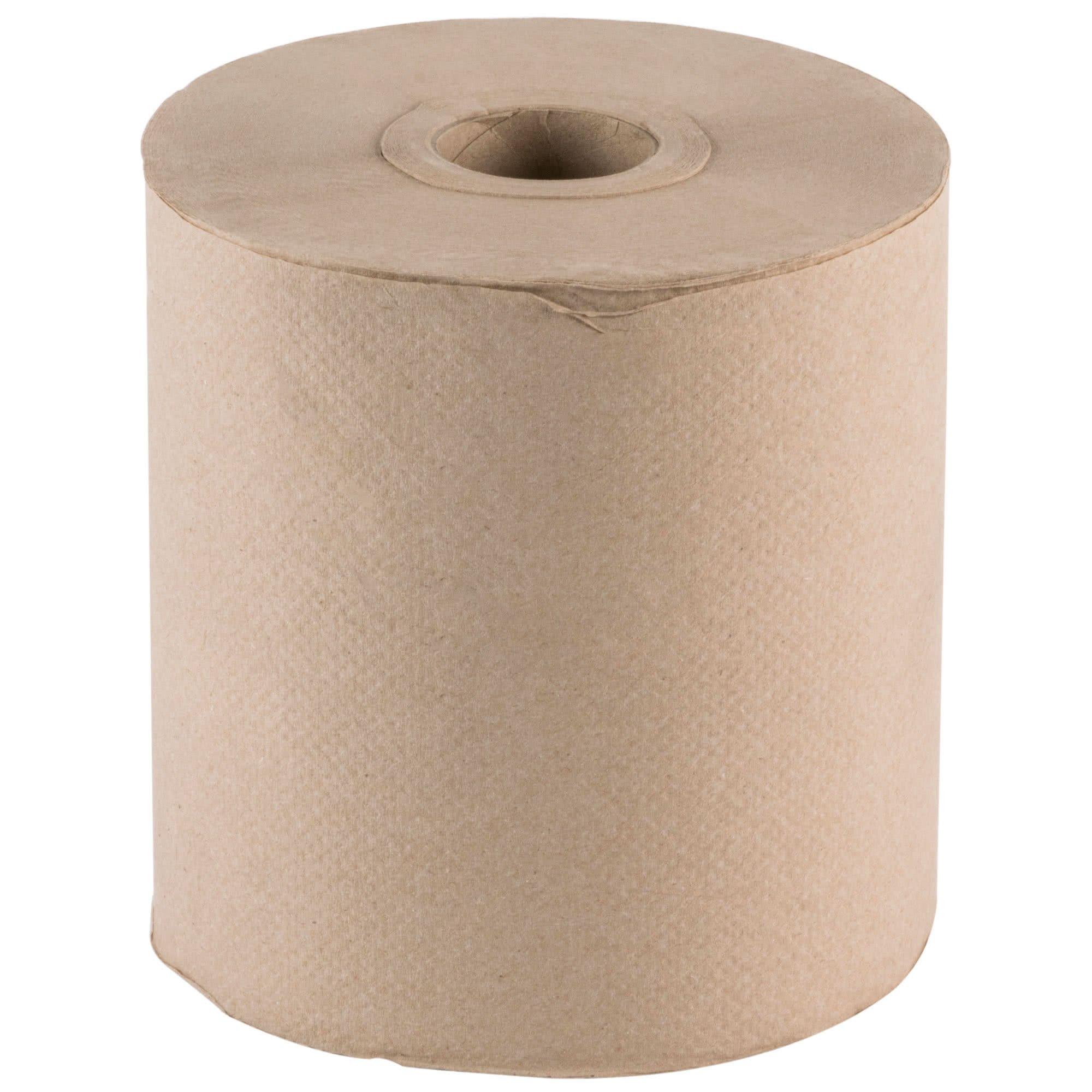 TableTop King Natural Brown Kraft Roll Towel 600 Feet / Roll - 12/Case