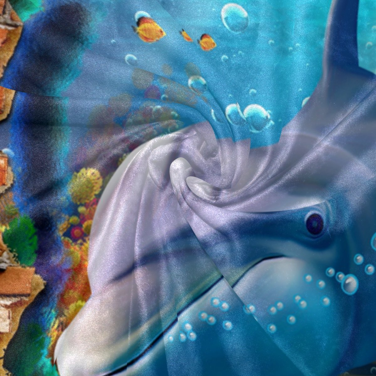 COOSUN Dolphin Sea Sea Sea Animals Super Soft Warm Blanket Lightweight Throw Blankets for Bed Couch Sofa Travelling Camping 90 x 60 Inch for Kids Boys Girls B0789CNQ7Z Kopfkissenbezüge f24383