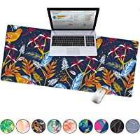 """French Koko Large Mouse Pad, Desk Mat, Keyboard Pad, Desktop Home Office School Cute Decor Big Extended Laptop Protector Computer Accessories Pretty Mousepad Women Girls XL 31""""x15""""(Blue Sky)"""