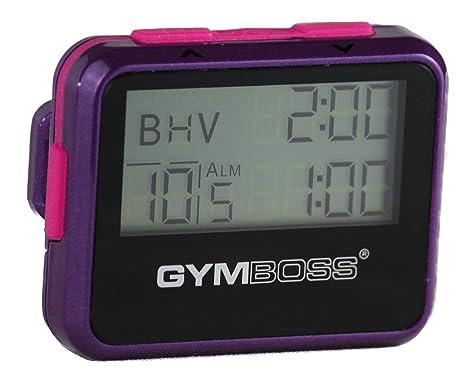 Temporizador de Intervalo y Cronómetro Gymboss – Revestimiento Metálico Brillante Violeta/Rosa
