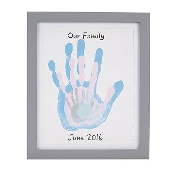 amazon com pearhead diy family handprint frame and paint kit gray