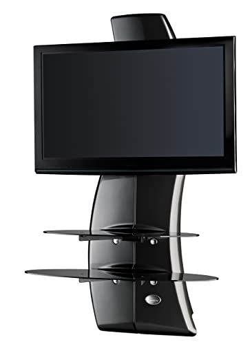 Ollo Meliconi Ghost Design 2000 TV Wall Fixture for 32 to 63 screens up to 154lbs, Carbon Fibre