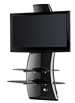 Meliconi Ghost Design 2000 Support Mural Pour Tv Plasma Lcd Noir