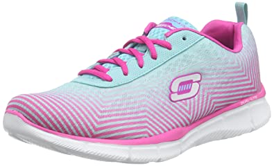 Skechers Women's, Equalizer Expect Miracles Walking Sneaker Blue Pink ...