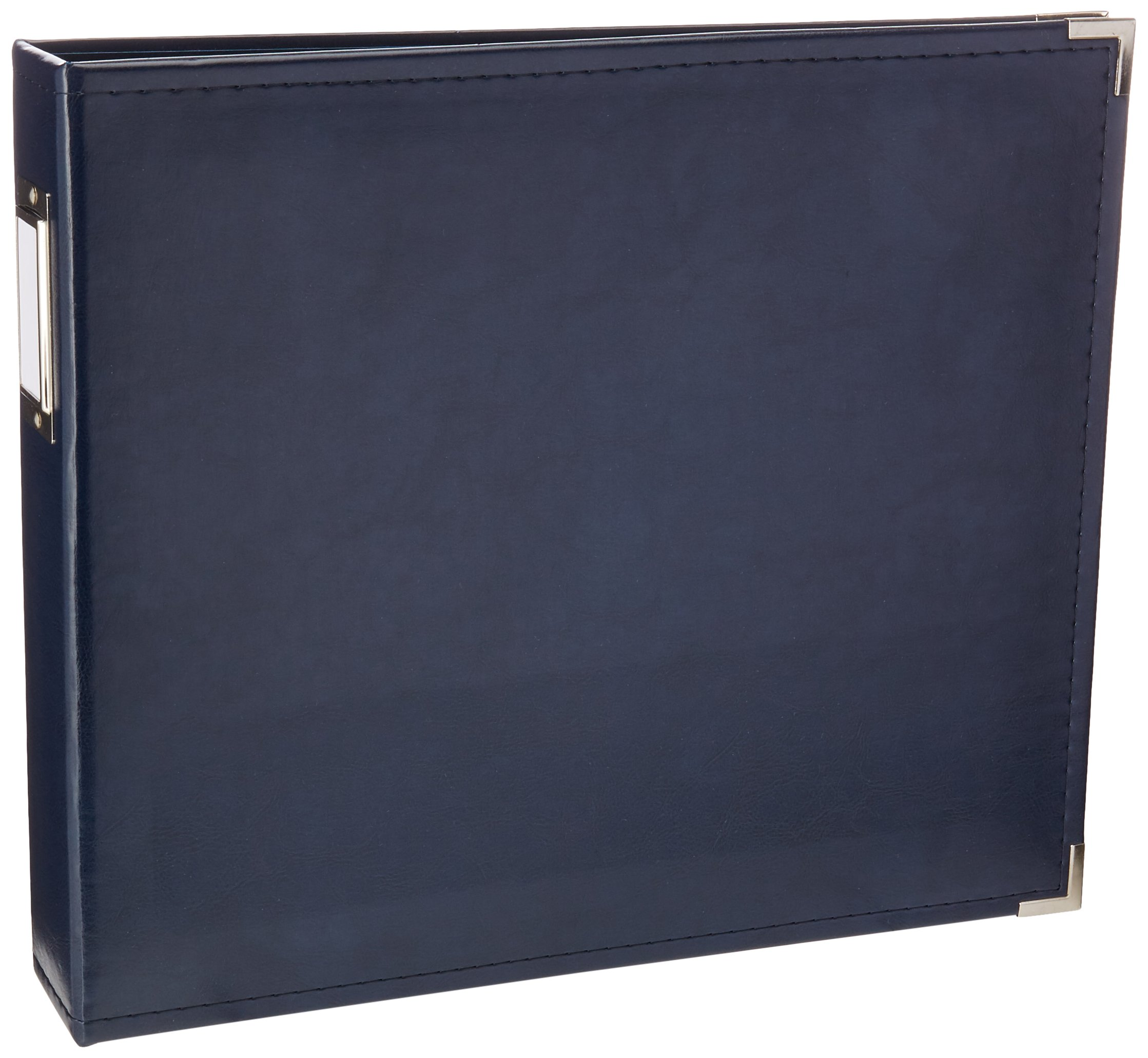 12 x 12-inch Classic Leather 3-Ring Album by We R Memory Keepers | Navy, includes 5 page protectors by We R Memory Keepers