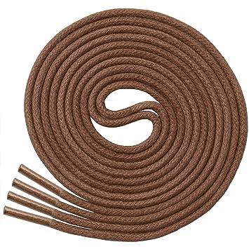 Miscly – Schnürsenkel für Anzugschuhe Gewachst Rund Reißfest Dünn [3 Paar] – 100% Baumwolle Ø 2.4 mm