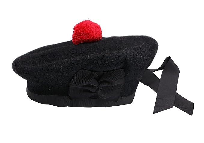 25c192f041e SHYNE ENTERPRISES BALMORAL SCOTTISH BLACK 100% WOOL HAT CAP Highland ...