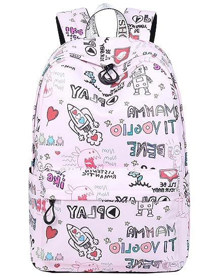 Amazon.com: el-fmly Niñas Bolso de escuela para niños ...
