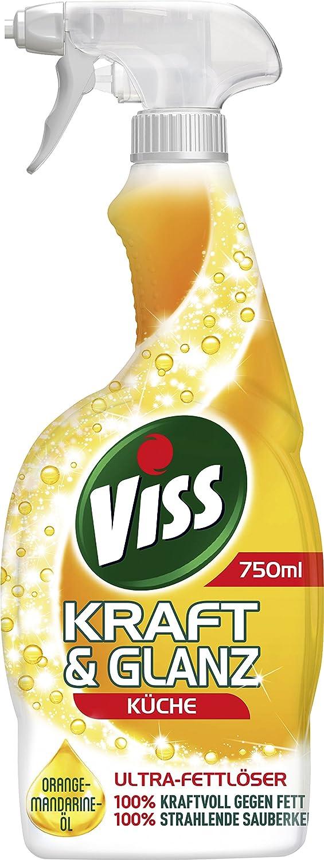 VISS Fuerza & brillo, limpiador en spray para cocina, 15 ml, 15 unidades,  (15 x 15 ml)