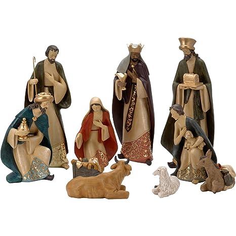420f9870d48 Belén decorativo con 10 figuras  Amazon.es  Hogar