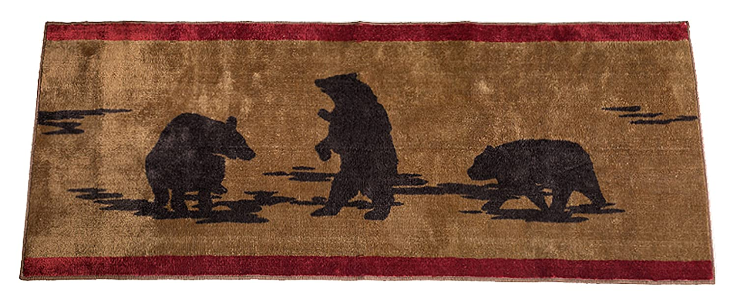 HiEnd Accents Bear Kitchen and Bath Lodge Rug, 24 by 60-Inch