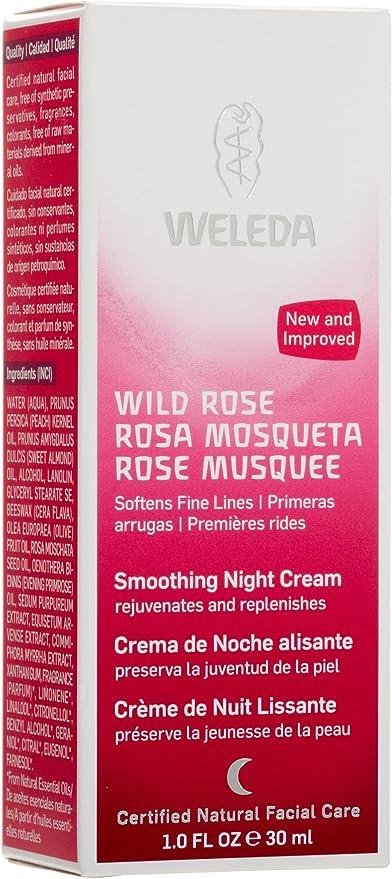 Weleda - Crema de noche Alisante de rosa Mosqueta: Amazon.es: Belleza