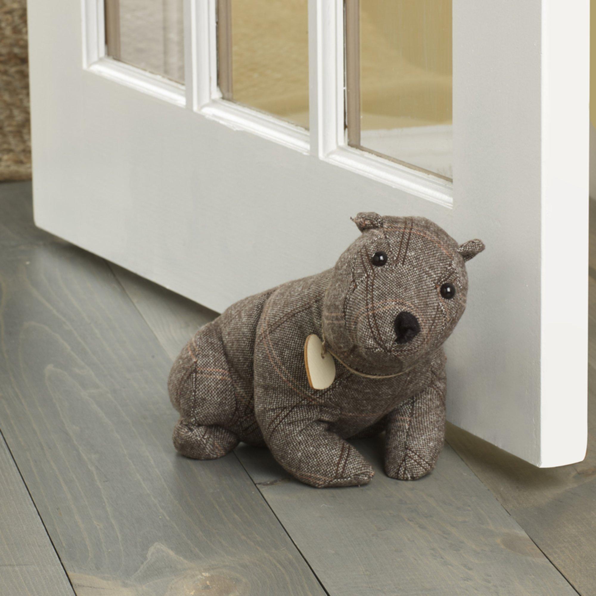 Elements Brown Dog Door Stopper, Brown Bear
