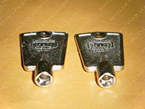 Compx National D8591 Pentagon Freezer Key (2-Pack)