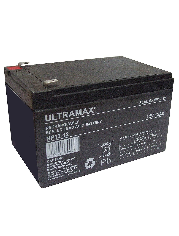 Ultramax NP12-12, 12v 12Ah 20HR (as 10Ah, 14Ah & 15Ah) Mobility Scooter Wheelchair Battery