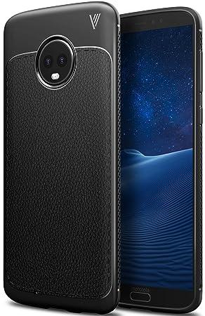 Funda Moto G6, iBetter anti-rasca la Carcasa alta calidad TPU de la imitación ninguna Case del teléfono móvil caja del teléfono Cover para Moto G6, ...