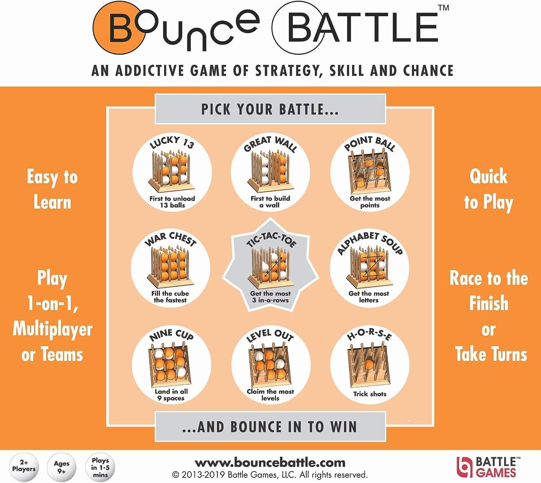 Bounce Battle Juego de Juego de Madera: un Juego adictivo de Estrategia, Habilidad y Azar: Amazon.es: Juguetes y juegos