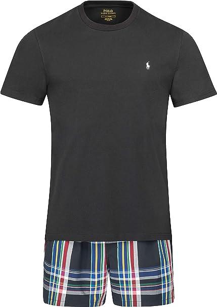 Ralph Lauren - Juego de calzoncillos y camiseta para hombre, color negro