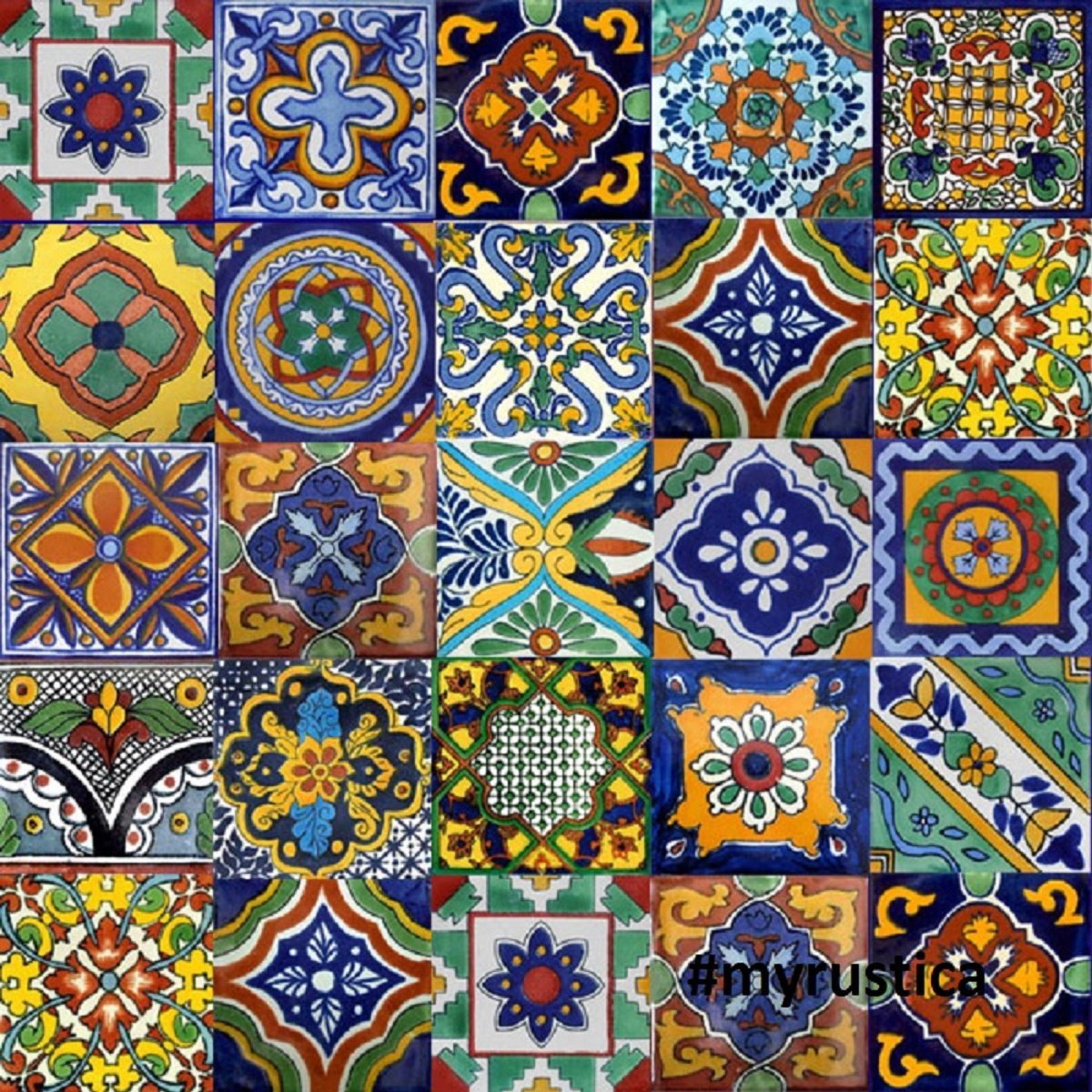 Amazon 100 mexican tiles mix home kitchen dailygadgetfo Image collections