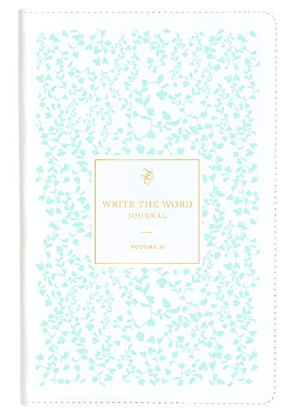 write the word bible journal in teal scripture faith journal by lara casey