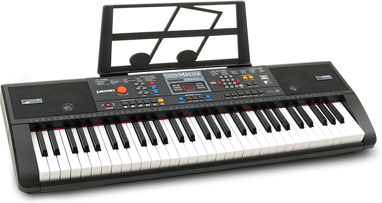 Plixio 61-Key Digital Electric Piano Keyboard & Sheet Music Stand -  Portable Electronic Keyboard for Beginners (Kids & Adults)