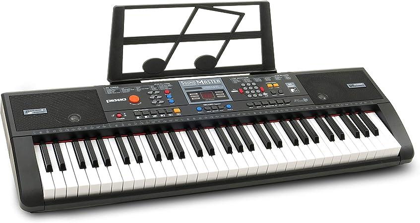 Plixio - Soporte para teclado y partituras de piano eléctrico digital (61 teclas), teclado electrónico portátil para principiantes (niños y adultos)