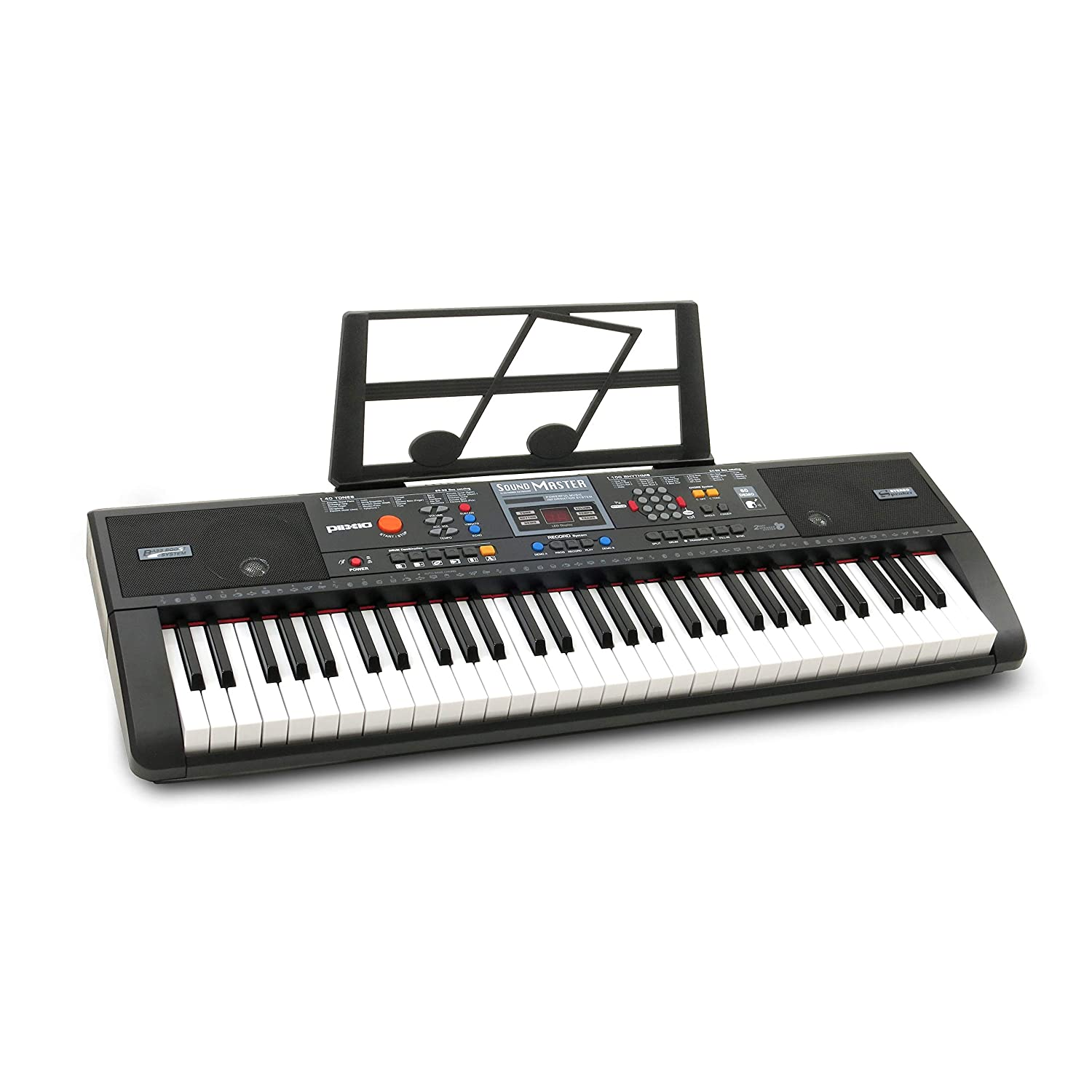 Plixio 61-Key Electric Piano Keyboard with Music Sheet Stand – Portable 10766396