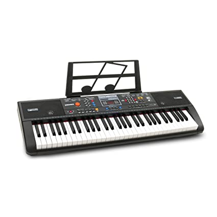 062ead7ab1a Amazon.com  Plixio 61-Key Digital Electric Piano Keyboard   Sheet Music  Stand - Portable Electronic Keyboard for Beginners (Kids   Adults)  Musical  ...